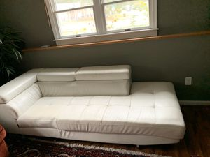 White leather couch for Sale in Catonsville, MD