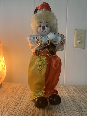 Porcelain Clown Musical Figurine for Sale in Spokane, WA