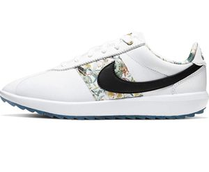 Nike NRG Rare Women's Cortez Golf Shoes White Black Floral CI2283 100 Size 8🔥 for Sale in Sunland Park, NM
