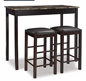 Expresso Dining table and two stools for Sale in Orlando, FL