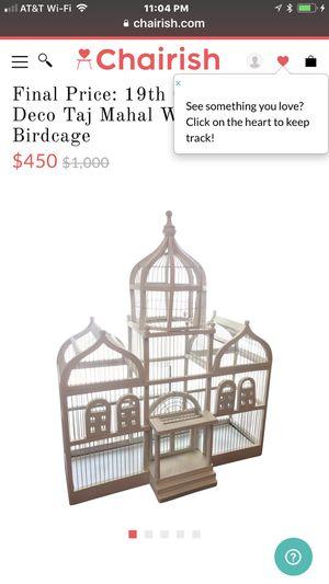 Vintage white bird cage for Sale in Lodi, CA