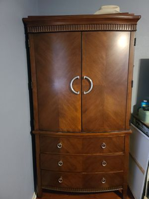Ashley Furniture Wooden Armoir for Sale in Spring, TX