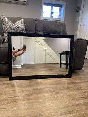 Large Black Wall Mirror for Sale in Rochelle Park, NJ