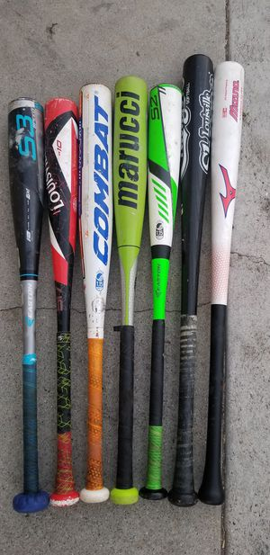 Used youth baseball bats for Sale in Los Angeles, CA