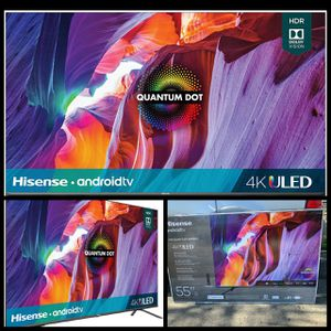 55 INCH HISENSE QUANTUM DOT 4K SMART TV 📺 ANDROID ULED BRAND NEW for Sale in Anaheim, CA