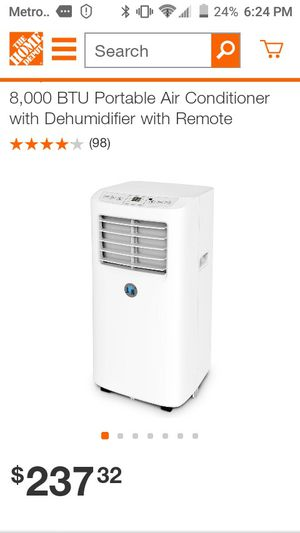 JHS 8000 BTU PORTABLE AIR CONDITIONER WITH DEHUMIDIFIER for Sale in Tampa, FL