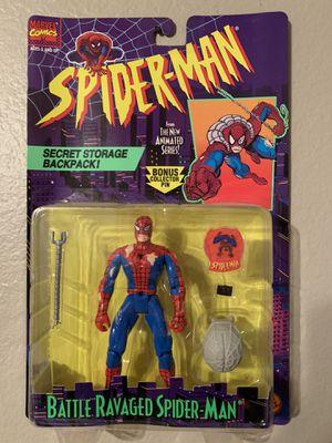 Marvel Spider-Man Animated Series (1995) Battle Ravaged Spider-man Toy Biz Figure NIP for Sale in Stockton, CA