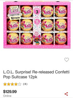 L.o.L surprise re-released confetti pop suitcase 12 pack for Sale in Aurora, CO