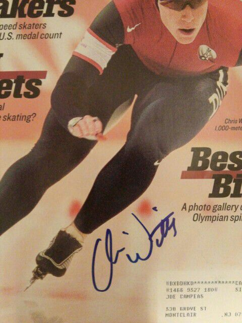 Chris Witty Signed 2002 Sports Illustrated