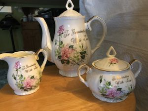 Fine antique China tea sugar creamer set for Sale in Tucson, AZ