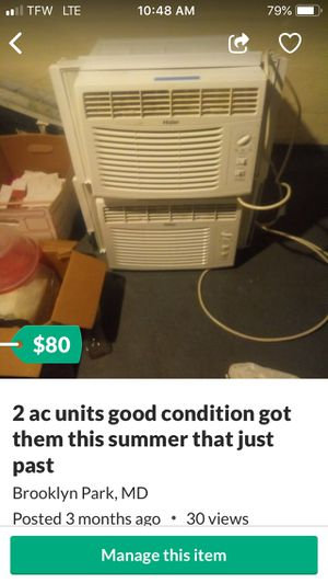 2 almost new ac units good condition nothing wrong for Sale in Millersville, MD