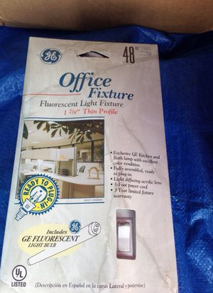 Office fixture fluorescent light fixture include Florissant lightbulbs for Sale in Los Angeles, CA