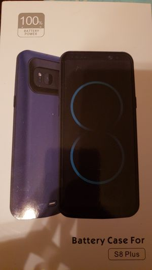 Samsung Galaxy S8 plus charging case 5500 mAh for Sale in Phoenix, AZ