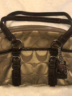 Vintage Coach Brown Signature Medium Satchel Handbag for Sale in Munhall,  PA