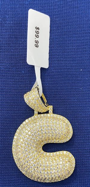 Icy Gold Finish Inital 'C' Bubble Charm for Sale in Tucker, GA