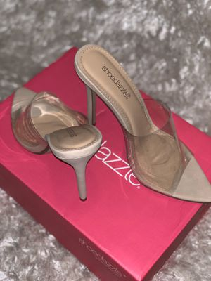 Clear heels pointed toe (nude) for Sale in Garner, NC