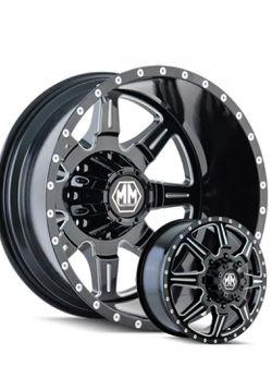 "Mayhem Monstir 22"" Dually Wheels Chevy Dodge Ram GMC 3500 Ford F350 F450 FINANCING Available for Sale in Bellflower,  CA"