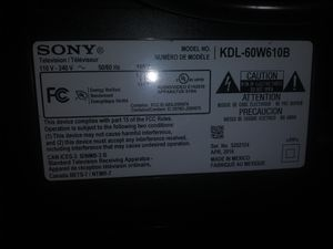 Sony kdlw610b 110v-240v 60 inch smart tv for Sale in Chicago, IL