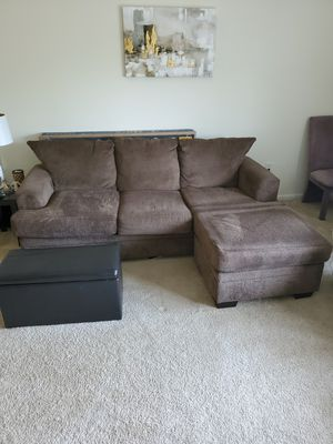 Brown Fabric Couch for Sale in Milford, CT