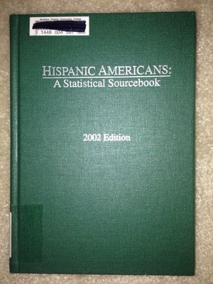 Hispanic Americans a statically sourcebook for Sale in Fairfax, VA