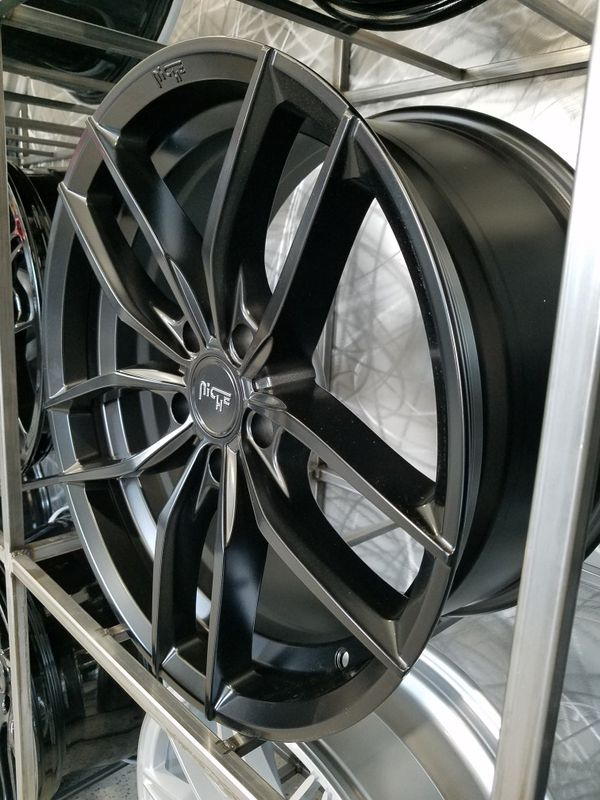 "PRICE PER WHEEL 20"" Niche Vosso matte black wheels first 5x114 mustang Infiniti Nissan rims"