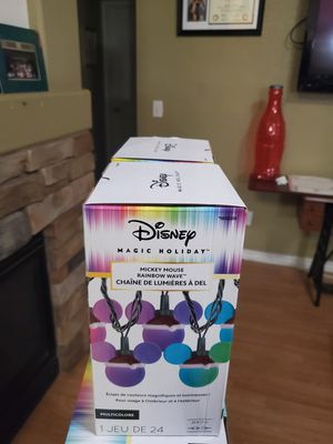 DISNEY LED STRING LIGHTS 23 FEET LONG 120$$ FOR BOTH OR 60$EACH!! for Sale in French Camp, CA