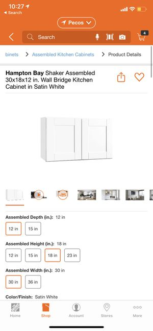 30in wall kitchen cabinet for Sale in Las Vegas, NV