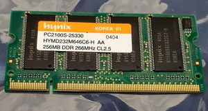 256MB Laptop Memory Upgrade 266Mhz PC2100S for Sale in National City, CA