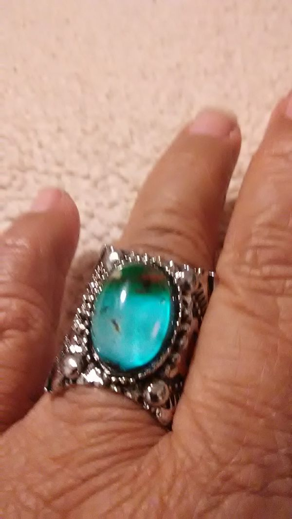 Awesome cool blue ring size 8