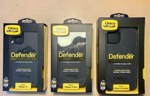 For 11 (Regular), 11 Pro & 11 Pro Max - iPhone OtterBox Case Cover. Defender Series. Belt Clip & Holster. Black Color. for Sale in Norco, CA