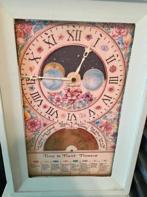 Antique gardening teal clock for Sale in Clovis, CA