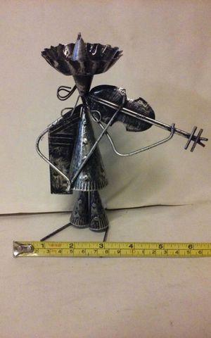 Metal polished stick figure 28th violin for Sale in Vista, CA
