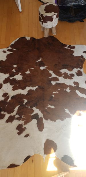 Cow hide area rug and stool for Sale in Alexandria, VA