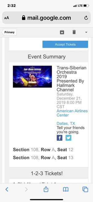 Trans Siberian Orchestra Tickets for Sale in Arlington, TX
