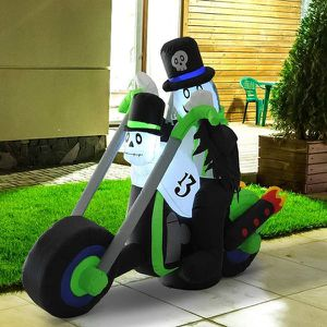 HOMCOM 6' Airblown Halloween Inflatable Durable Yard Seasonal Holiday Decor Ghost & Motorcycle for Sale in Bothell, WA