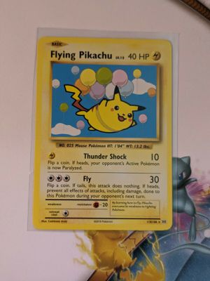 Flying pikachu pokemon card pass for 9 or 10! for Sale in Skokie, IL