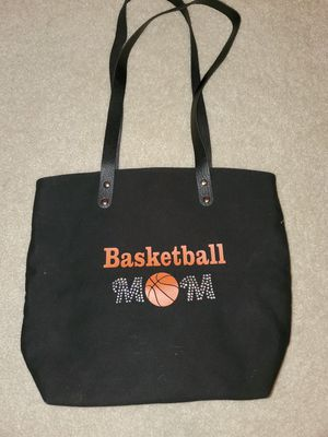 Canvas lined Basketball Mom glitter tote for Sale in Mansfield, TX