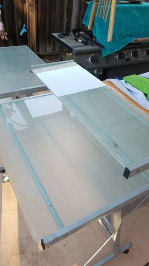 2 FROSTED GLASS DESK FOR SALE$ for Sale in San Jose, CA