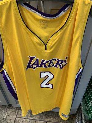 Los Angeles lakers fanatics lonzo ball yellow jersey for Sale in Lakewood, CA