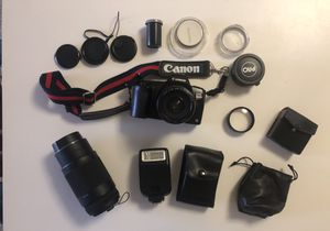 Canon EOS Rebel Film Camera with Accessories and Case for Sale in Enfield, CT