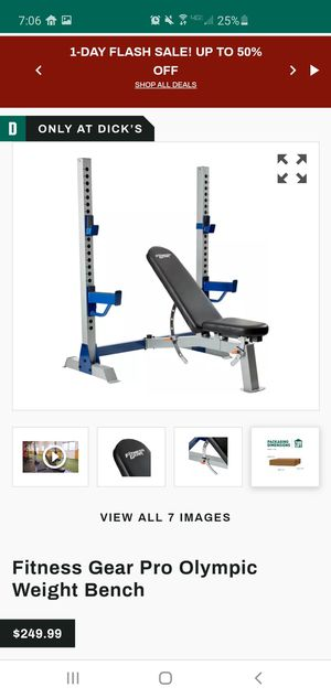 Fitness Gear Pro Olympic Weight Bench for Sale in Seminole, FL