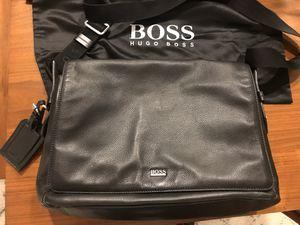 Hugo Boss Soft Grained Leather Messenger Bag Shoulder Bag Laptop Bag for Sale in Rancho Cucamonga, CA