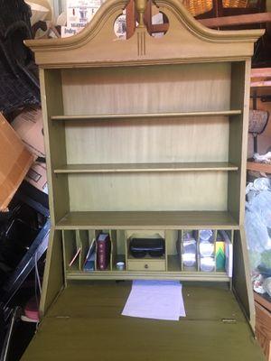 Wood secretary desk (olive green) for Sale in Hyattsville, MD