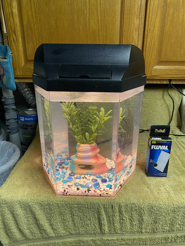5gl Marineland Hexagonal Fish Tank with Accessories