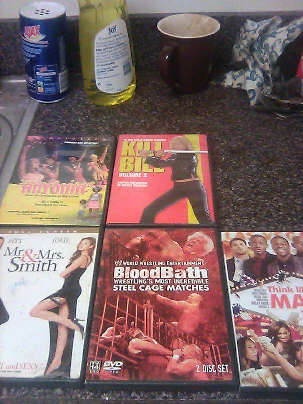 5--assorted dvds