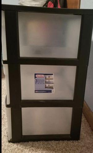 3 clear plastic drawers for Sale in Fort Worth, TX