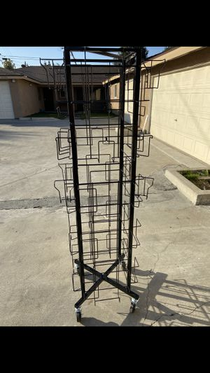 "MAGAZINE METAL RACK OR FOR ANYTHING ELSE ASKING $12 FIRM MEASUREMENTS ARE 5'6 X 14 "" for Sale in Lynwood, CA"