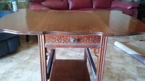 Antique drop leaf table serving cart for Sale in Sun City, AZ