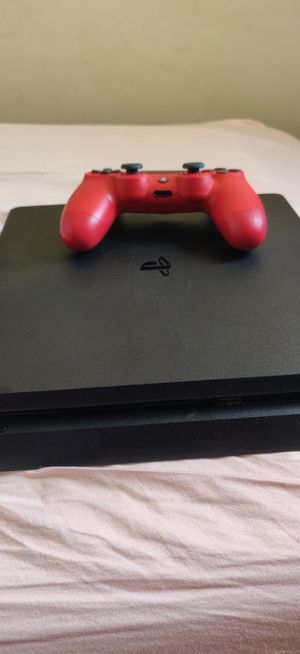 PS4 Slim 1TB w/Red Controller for Sale in Oak Grove, KY