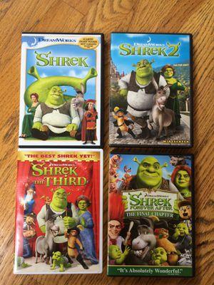 Shrek DVD set of 4 for Sale in Kenmore, WA